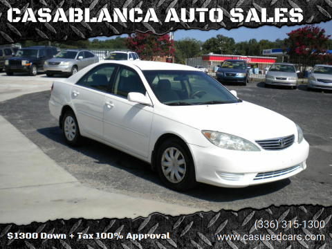 2006 Toyota Camry for sale at CASABLANCA AUTO SALES in Greensboro NC