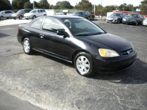 2003 Honda Civic for sale at CASABLANCA AUTO SALES in Greensboro NC
