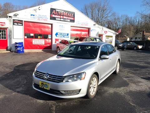 2013 Volkswagen Passat for sale in Bellingham, MA