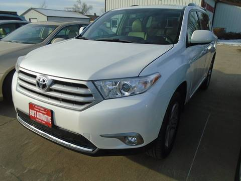 2013 Toyota Highlander for sale at BOBS AUTOMOTIVE INC in Fairfield IA