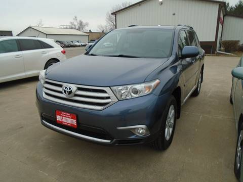 2012 Toyota Highlander for sale at BOBS AUTOMOTIVE INC in Fairfield IA