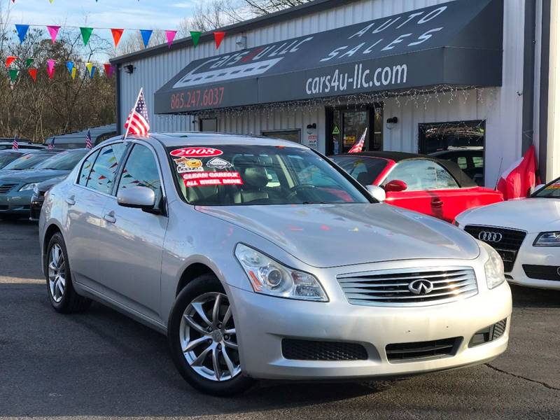 2008 Infiniti G35 x In Knoxville TN - Cars 4 U LLC