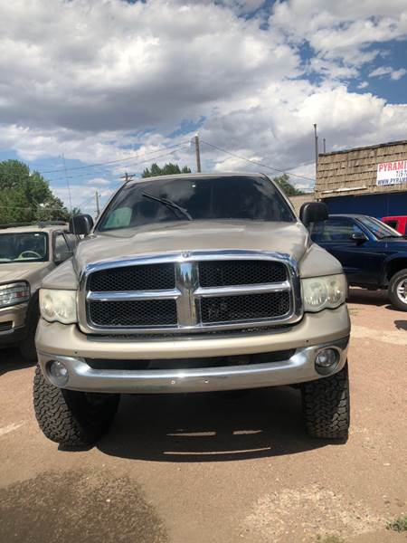2004 Dodge Ram Pickup 2500 for sale at PYRAMID MOTORS AUTO SALES in Florence CO