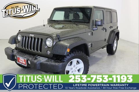 2015 Jeep Wrangler Unlimited for sale in Parkland, WA