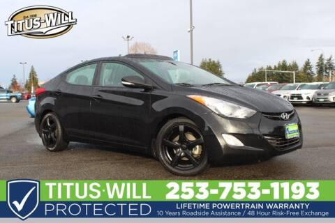 2013 Hyundai Elantra Limited for sale at Titus-Will Chevrolet in Parkland WA