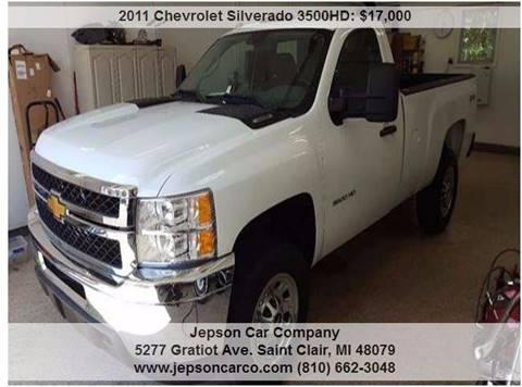 2011 Chevrolet Silverado 3500HD for sale in Saint Clair, MI