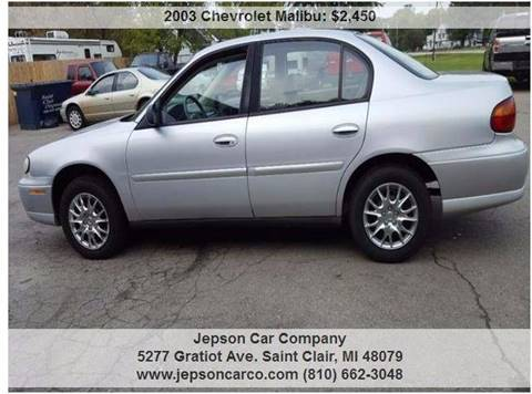 2003 Chevrolet Malibu for sale in Saint Clair, MI