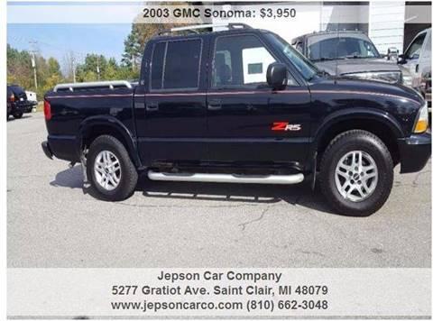 2003 GMC Sonoma for sale in Saint Clair, MI