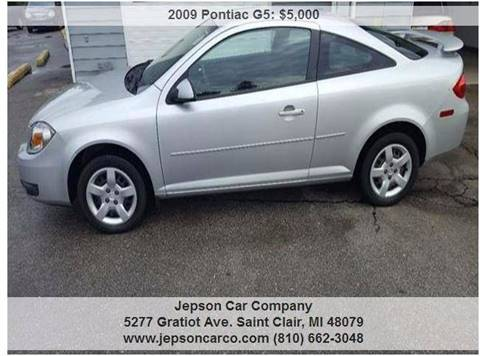 2009 Pontiac G5 for sale in Saint Clair, MI