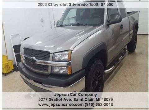 2003 Chevrolet Silverado 1500 for sale in Saint Clair, MI
