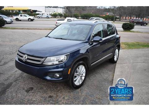 2013 Volkswagen Tiguan SE for sale at Empire Motors in Raleigh NC