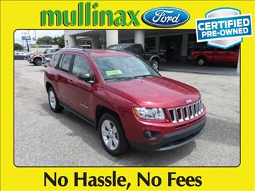 2012 Jeep Compass for sale at Derek Montalvo at Mullinax Ford in Mobile AL