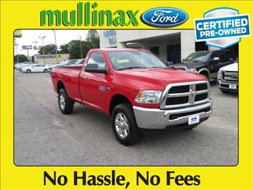 2015 RAM Ram Pickup 2500 for sale at Derek Montalvo at Mullinax Ford in Mobile AL