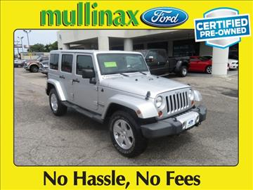 2011 Jeep Wrangler Unlimited for sale at Derek Montalvo at Mullinax Ford in Mobile AL
