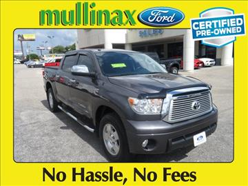 2013 Toyota Tundra for sale at Derek Montalvo at Mullinax Ford in Mobile AL