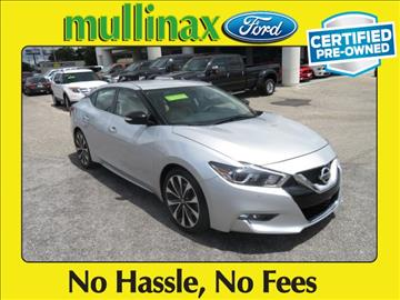 2016 Nissan Maxima for sale at Derek Montalvo at Mullinax Ford in Mobile AL