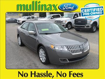 2012 Lincoln MKZ for sale at Derek Montalvo at Mullinax Ford in Mobile AL