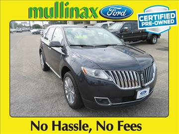 2013 Lincoln MKX for sale at Derek Montalvo at Mullinax Ford in Mobile AL