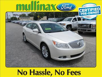 2012 Buick LaCrosse for sale at Derek Montalvo at Mullinax Ford in Mobile AL