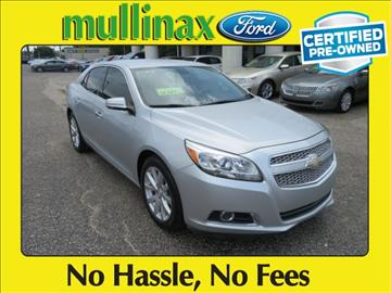 2013 Chevrolet Malibu for sale at Ask for Derek Montalvo at Mullinax Ford in Mobile AL