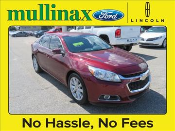 2015 Chevrolet Malibu for sale at Ask for Derek Montalvo at Mullinax Ford in Mobile AL