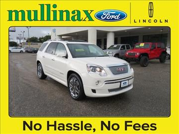 2012 GMC Acadia for sale at Derek Montalvo at Mullinax Ford in Mobile AL