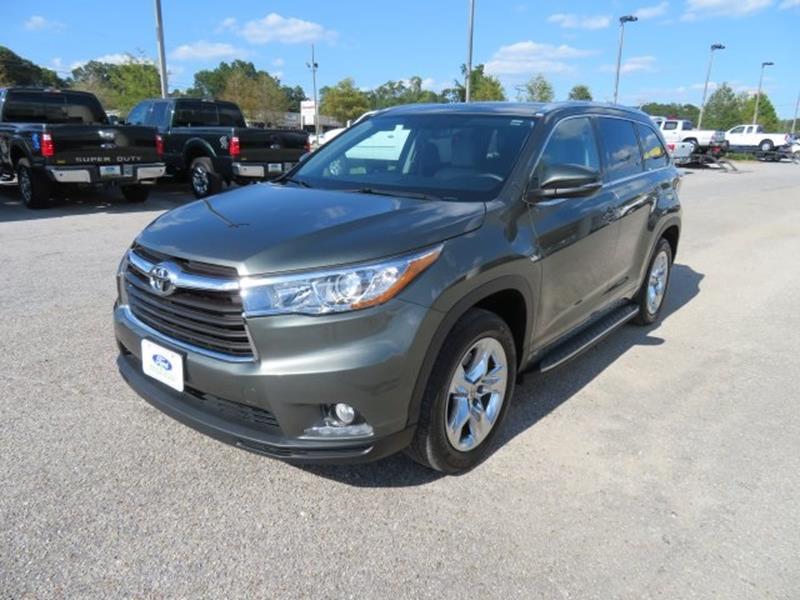 2015 Toyota Highlander for sale at Ask for Derek Montalvo at Mullinax Ford in Mobile AL