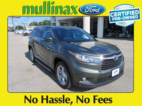 2015 Toyota Highlander for sale at Ask for Derek Montalvo at Mullinax Ford in Mobile AL