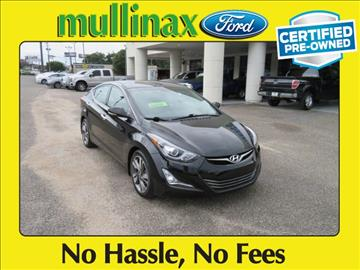 2014 Hyundai Elantra for sale at Ask for Derek Montalvo at Mullinax Ford in Mobile AL