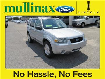 2006 Ford Escape for sale at Ask for Derek Montalvo at Mullinax Ford in Mobile AL