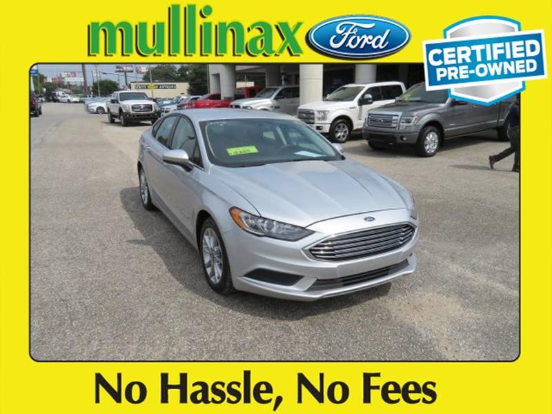 2017 Ford Fusion Hybrid for sale at Ask for Derek Montalvo at Mullinax Ford in Mobile AL