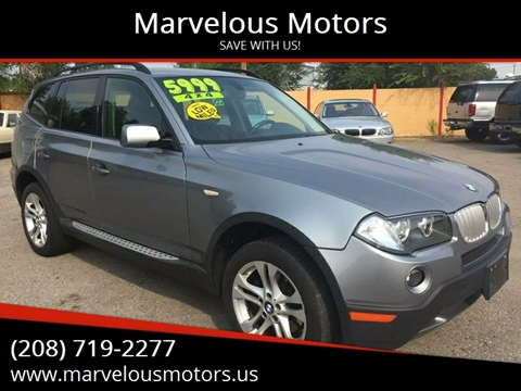 2008 BMW X3 for sale at Marvelous Motors in Garden City ID