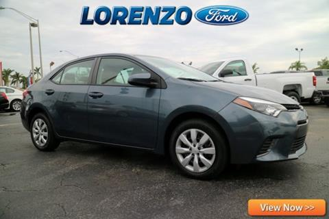 2015 Toyota Corolla for sale in Homestead, FL