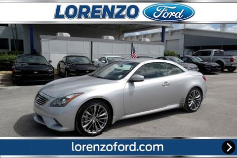 2012 Infiniti G37 Convertible for sale in Homestead, FL