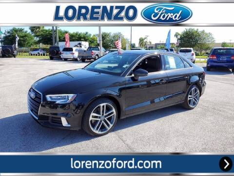 2018 Audi A3 for sale at Lorenzo Ford in Homestead FL