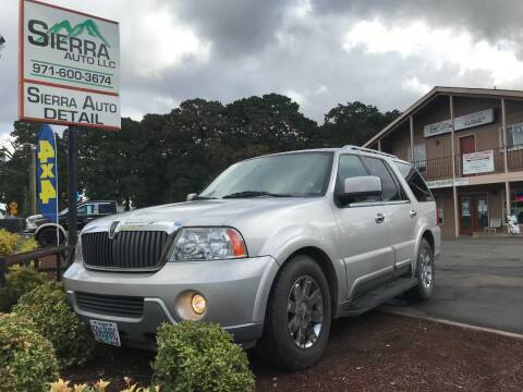 2003 Lincoln Navigator for sale at SIERRA AUTO LLC in Salem OR