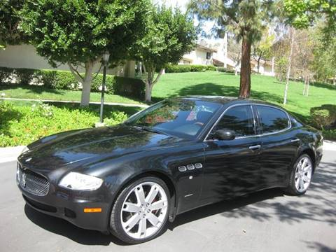 2008 Maserati Quattroporte for sale at E MOTORCARS in Fullerton CA