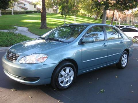 2005 Toyota Corolla for sale at E MOTORCARS in Fullerton CA