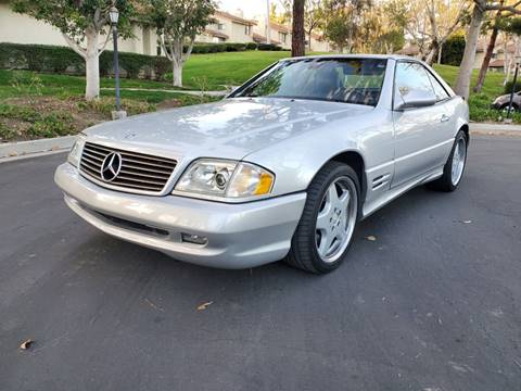 2002 Mercedes-Benz SL-Class for sale at E MOTORCARS in Fullerton CA
