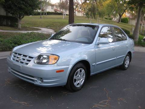 2003 Hyundai Accent for sale at E MOTORCARS in Fullerton CA