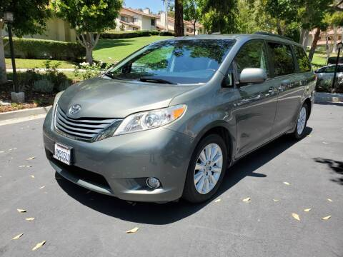 2011 Toyota Sienna for sale at E MOTORCARS in Fullerton CA