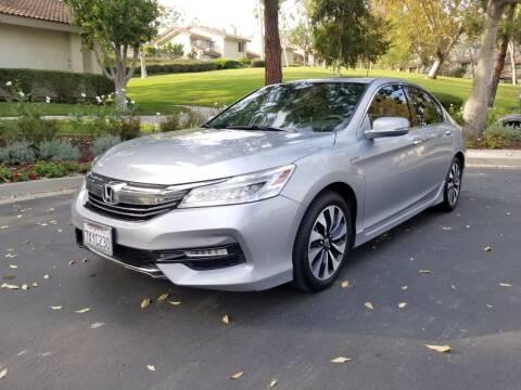 2017 Honda Accord Hybrid for sale at E MOTORCARS in Fullerton CA
