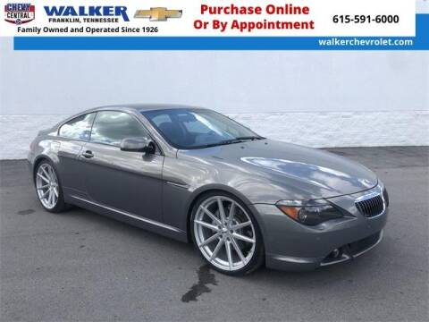 2005 BMW 6 Series for sale at WALKER CHEVROLET in Franklin TN