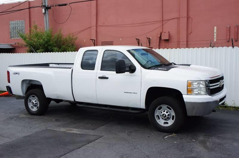 2011 CHEVROLET SILVERADO 2500HD WORK TRUCK 4X4 4DR EXTENDED CAB white pickup bed light pickup be