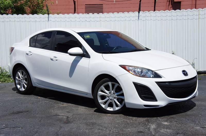 2010 MAZDA MAZDA3 I SPORT 4DR SEDAN 5A white note - for third party subscriptions or services p