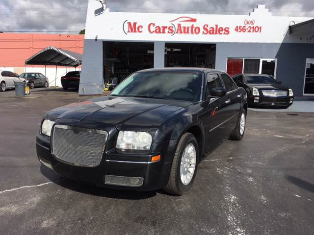 2008 CHRYSLER 300 TOURING 4DR SEDAN black 2007 chrysler 300c with a hemi 57 engine leather ful