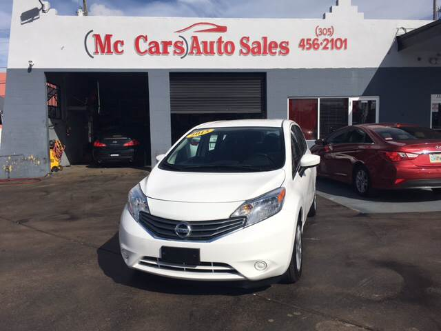 2015 NISSAN VERSA NOTE SV 4DR HATCHBACK white priced right clean carfax service r