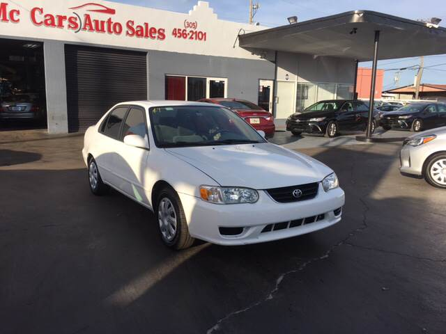 2002 TOYOTA COROLLA LE 4DR SEDAN white today to schedule your test drive clean carfax report