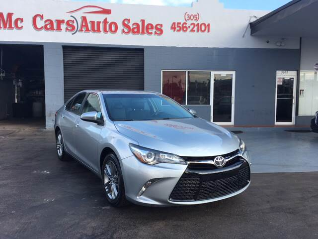 2016 TOYOTA CAMRY SE 4DR SEDAN silver only one previous ownerclean carfaxno-accidents histo