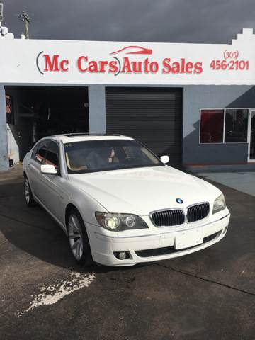 2008 BMW 7 SERIES 750LI 4DR SEDAN white great selection of high quality vehicles at the lowest pr